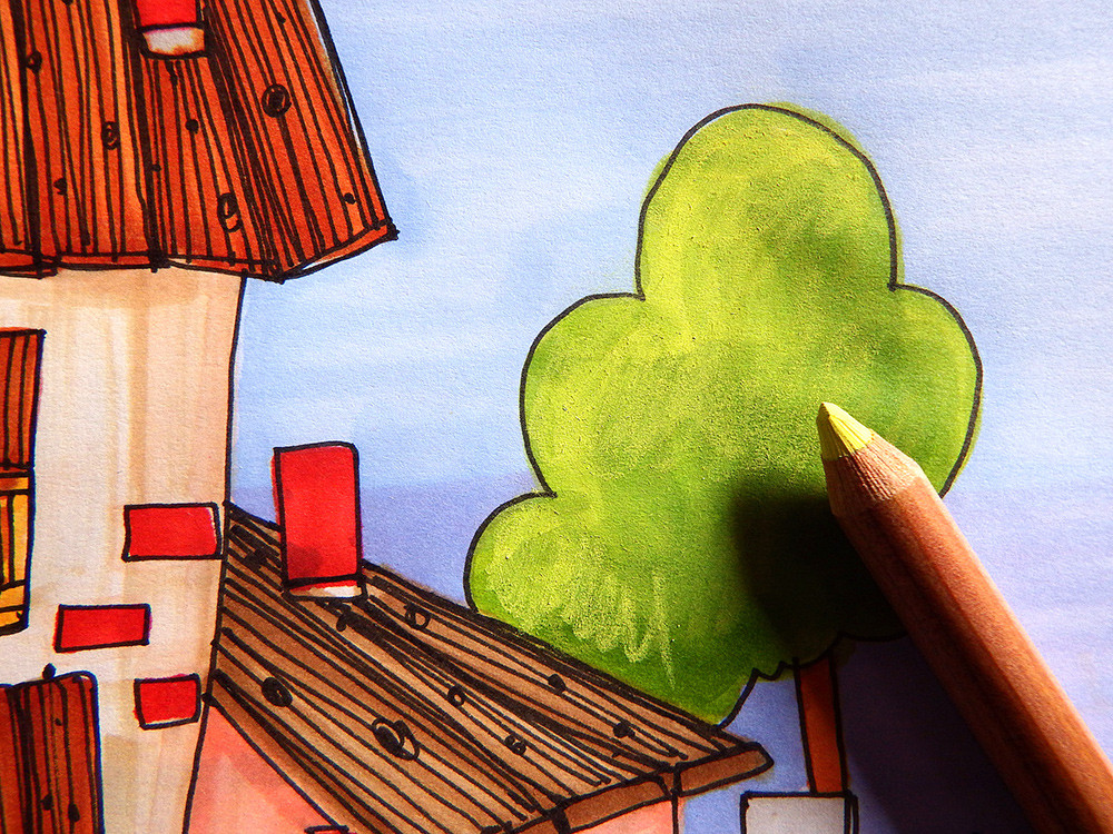 Ajouter de la lumière au crayon pastel