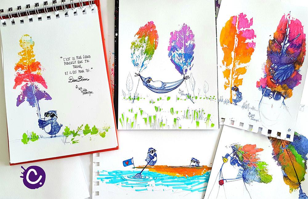 Décalquer des végétaux - Illustrations par Cynthia Dormeyer