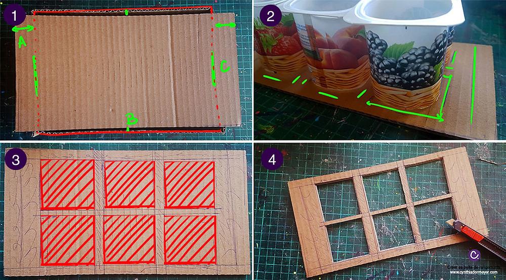 Créer une boîte de rangement en carton pour marqueurs avec des pots de yaourts