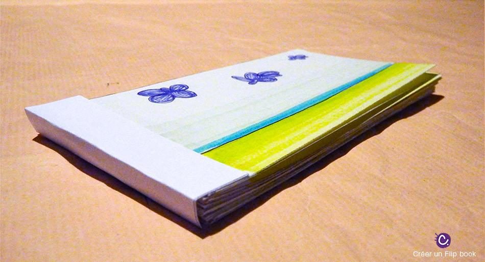 Livret Flip book - Reliure
