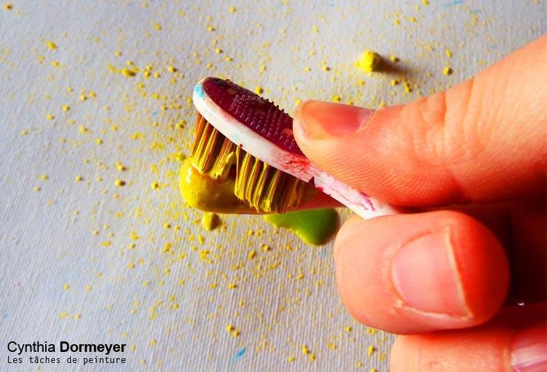Créer des tâches à la brosse à dents