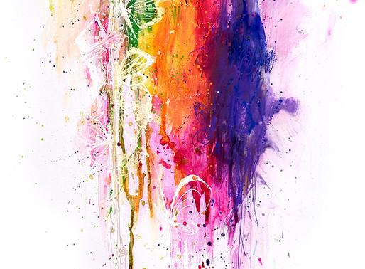 Démontration d'un tableau à la peinture acrylique Darwi