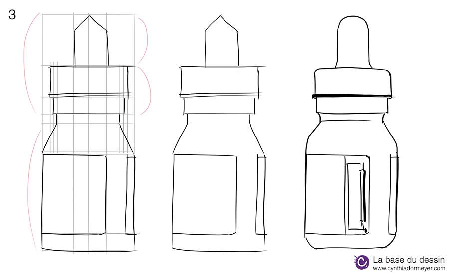 Etape 2 : des lignes de construction aux formes du dessin