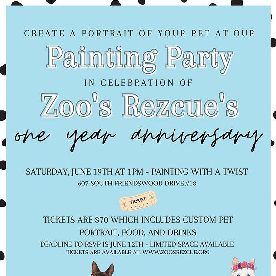 Pup Portrait Painting Party