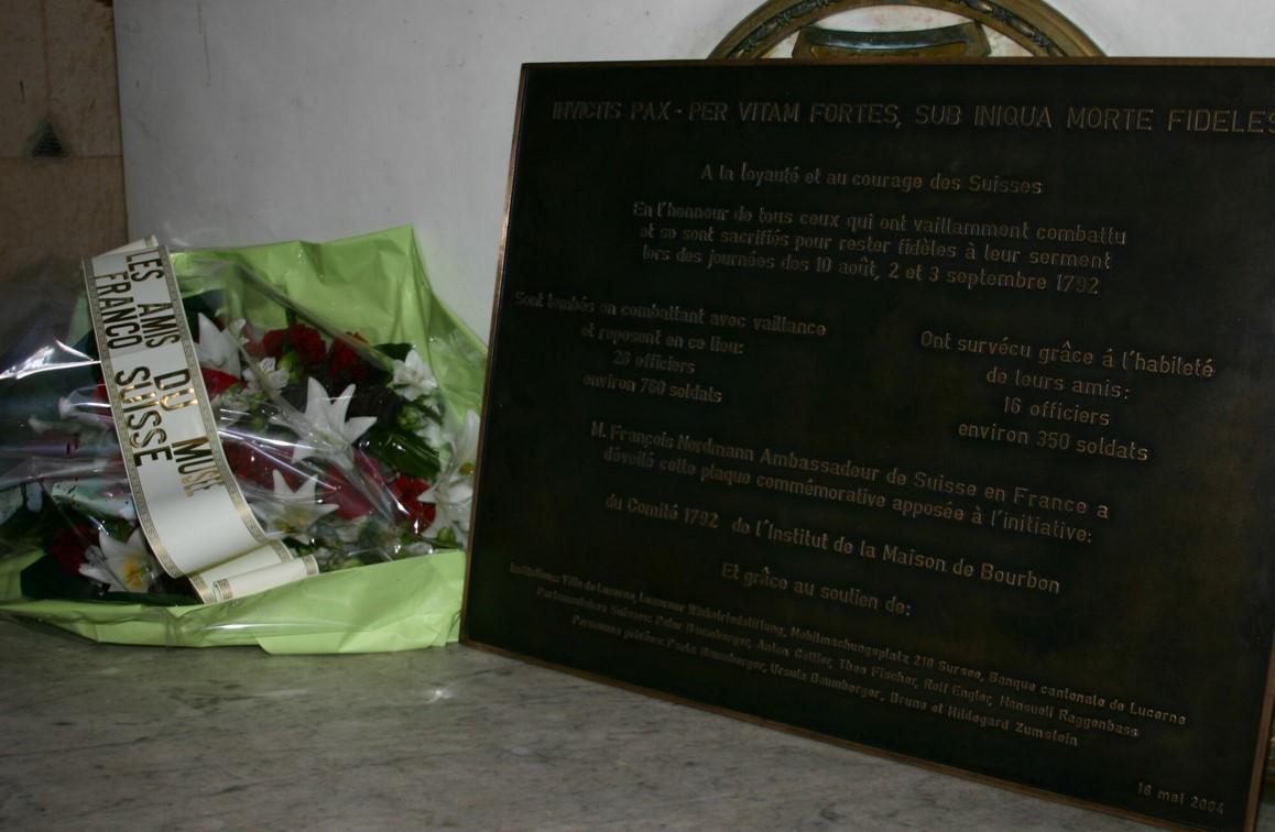 Die Gedenktafel