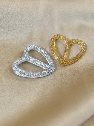 HEART Sarong Buckles Glitter