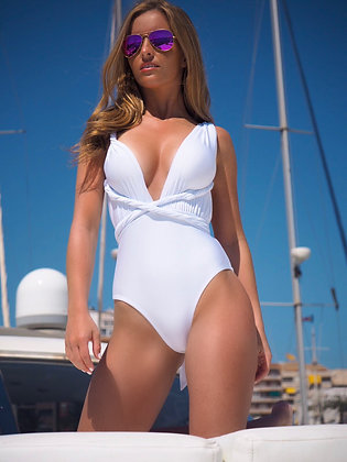 White Multi-Wrap - Swimsuit