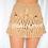 Thumbnail: 'Rhodes' Mini Crochet Skirt - Tan