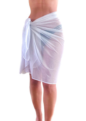 Glitter Lola Sarong - White