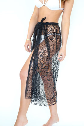 Orchid Black Beach Skirt