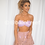 Thumbnail: 'Rhodes' Mini Crochet Skirt - Pink