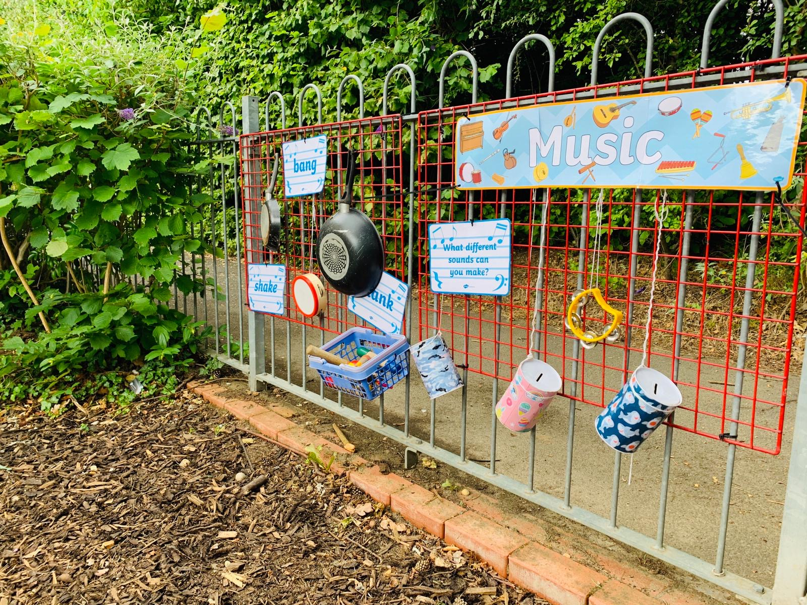 Outside Music Area