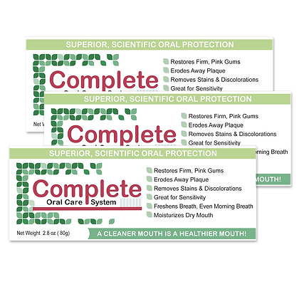 Complete Oral Care System 3 Pack
