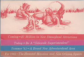 1962 Coming To Disneyland Brochure Cover