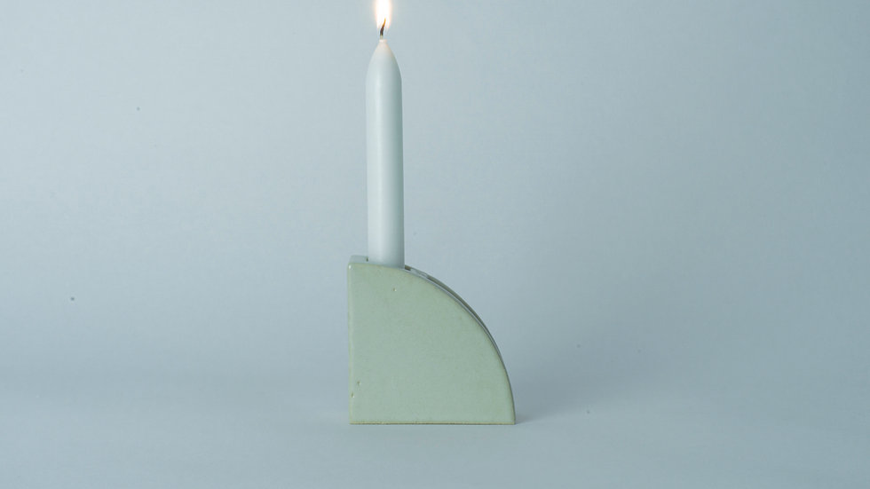 "Candle Holder ""1/4"" White"