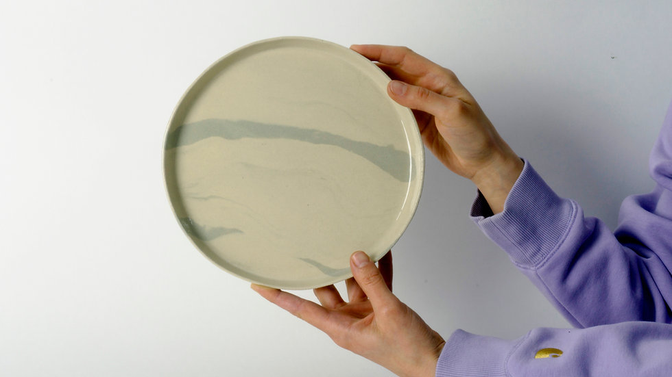 Marbled Plates - Set of 4