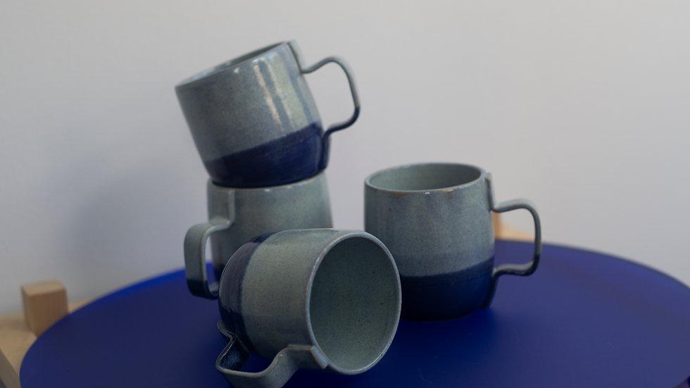 Set of 4 Wheel-thrown Mugs