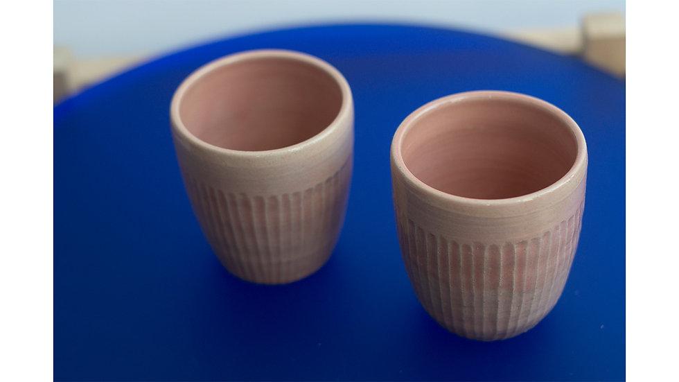 Set of 2 Wheel-thrown Mugs