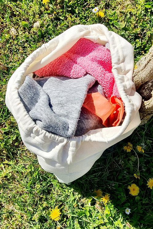 """BIG SAC LINGE SALE ou sac à vrac réutilisable """"nature"""""""