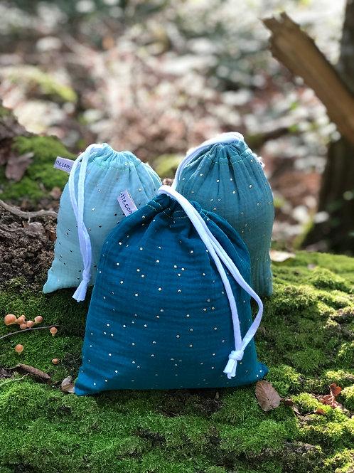 Trio de sacs à vrac ou pochettes cadeaux
