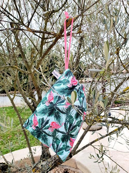 """Petit sac à vrac réutilisable """"Flamingo"""""""