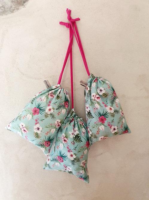 """Trio petits sacs à vrac réutilisables """"Flowers"""""""