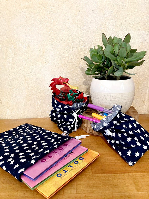 """Trio de sacs à vrac ou pochettes cadeaux """"OURSONS"""""""