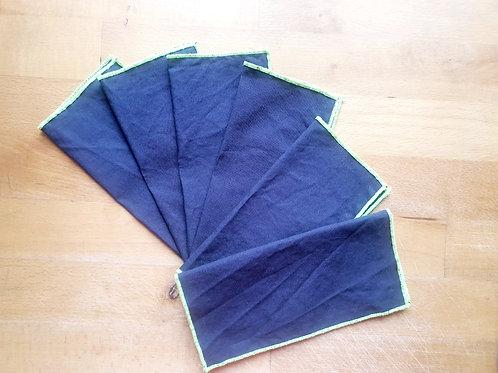 Mouchoirs réutilisables x 6