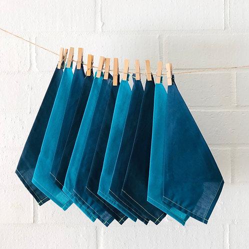 """Mouchoirs en tissus """"Le Bobbie Blue"""""""
