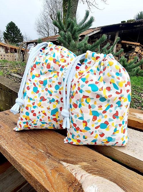 """Duo sacs à vrac réutilisables """"Pop"""""""