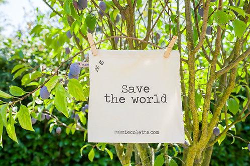 """Moyen sac à vrac """"save the world"""""""
