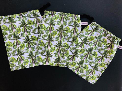 """Trio sacs à vrac réutilisables """"Botanical"""""""