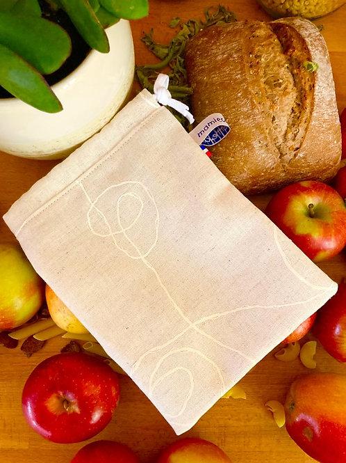 """Petit sac à vrac réutilisable """"Nature douce"""""""