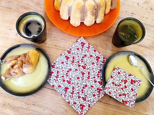 Petites serviettes dinatoires réutilisables