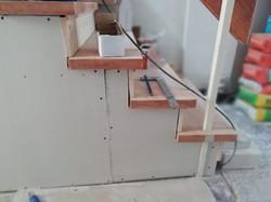 Treppen Gipsplatte Holzverkleidung