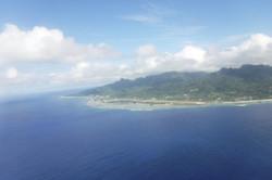 rarotonga island view from plane