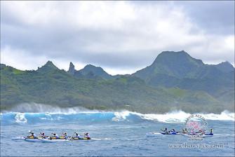 「ヴァカ・エイバ」最終日 島一周アウトリガーカヌーレース