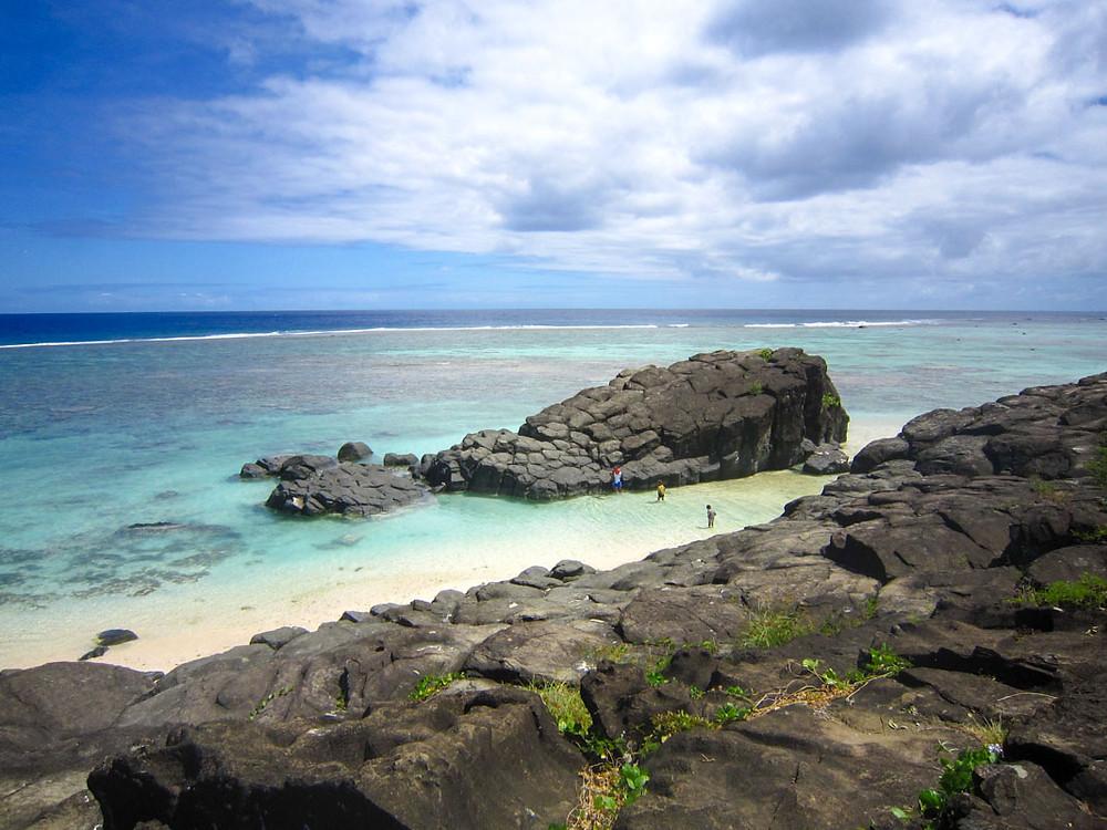 クック諸島 ラロトンガ島 ブラックロック