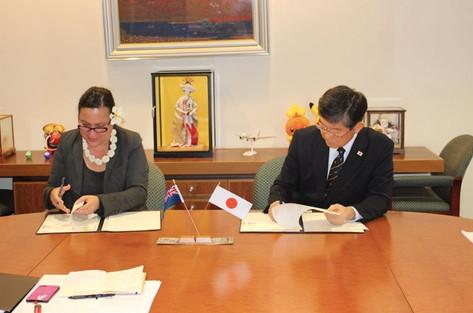 日本からクックへCOVID-19助成金一億円