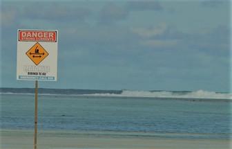 ラロトンガ島の遊泳禁止場所 水の事故には気を付けよう