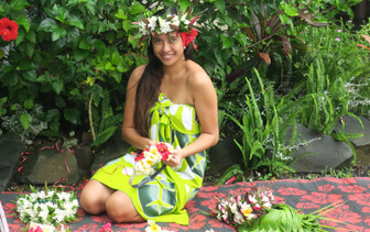 ポリネシア美人アンジェラちゃん。同僚です