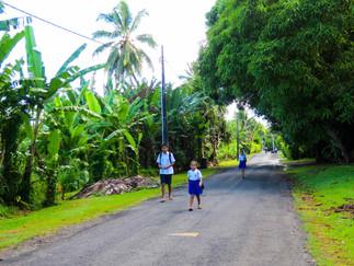 ラロトンガ島の朝の風景