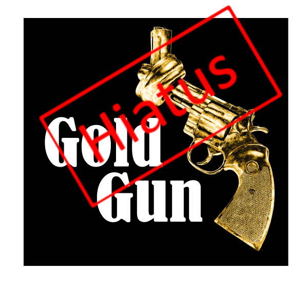 GoldGun, hiatus, logo