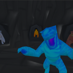 The Cave with monsters
