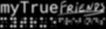 myTrueFriends logo, with a handwritten style