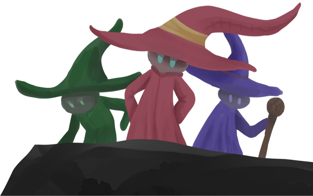 Three Wizards standing and ready for the fight