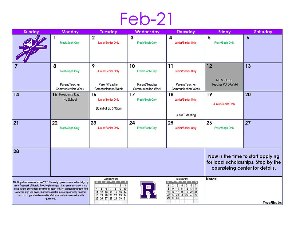 2020-2021 School Calendar Update Jan_Feb