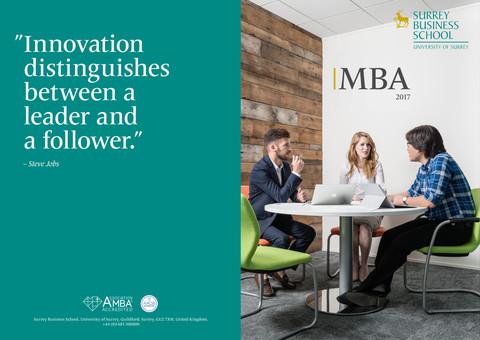 Surrey Business School | MBA Brochure