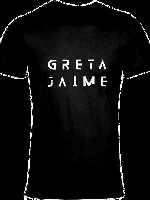 White on Black Full Logo Jaime Tee