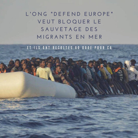 """Defend Europe"", l'ONG qui menace les droits de l'homme"